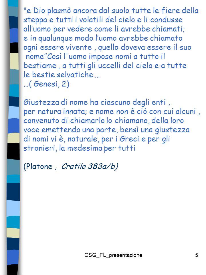CSG_FL_presentazione6 Piero è più giovane di Marco Piero è piu giovane di Marco Piero è piu giovane di Marco Fatto ( Stato di cose) Immagine Pensiero proposizione Pensiero proposizione Forma logica Immagine Immagine