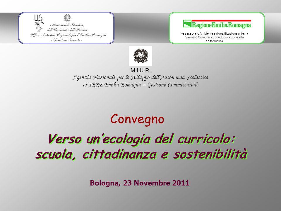 Assessorato Ambiente e riqualificazione urbana Servizio Comunicazione, Educazione alla sostenibilità M.I.U.R.