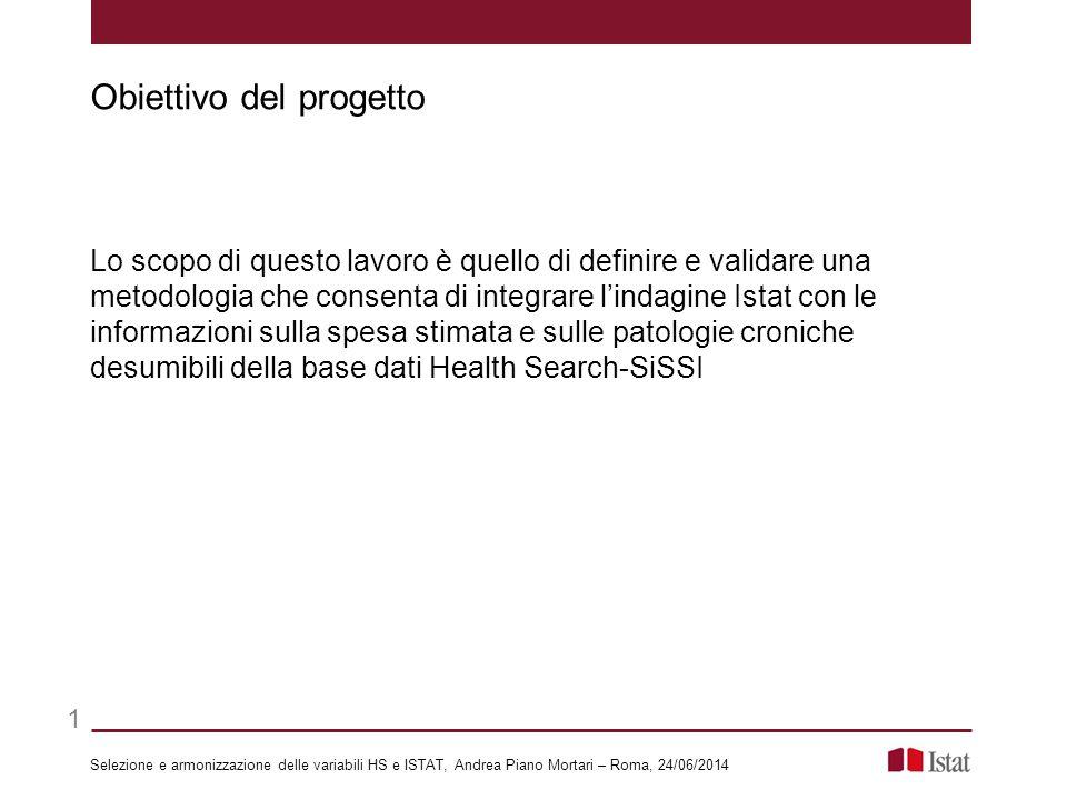 Lo scopo di questo lavoro è quello di definire e validare una metodologia che consenta di integrare l'indagine Istat con le informazioni sulla spesa s
