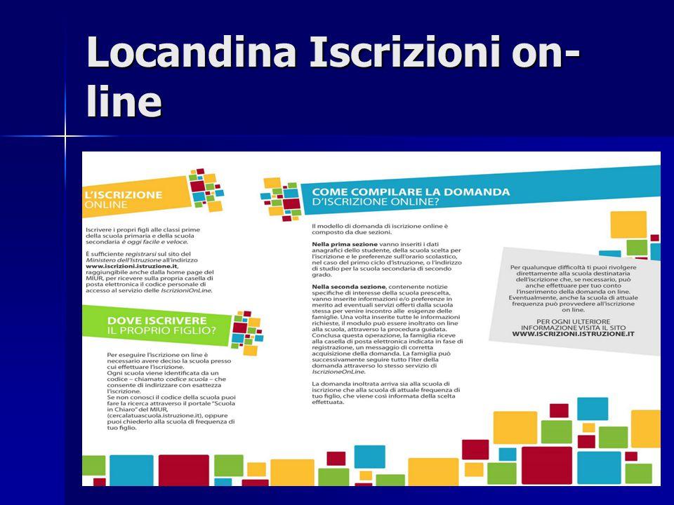 Locandina Iscrizioni on- line