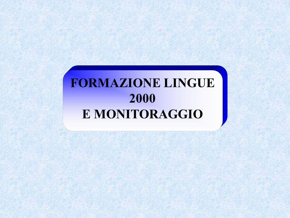 FORMAZIONE LINGUE 2000 E MONITORAGGIO