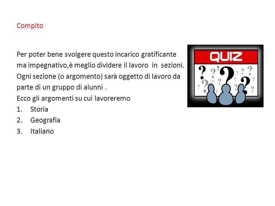Procedimento La classe (26 alunni) viene divisa in 3 maxi gruppi ripartiti in sottogruppi.
