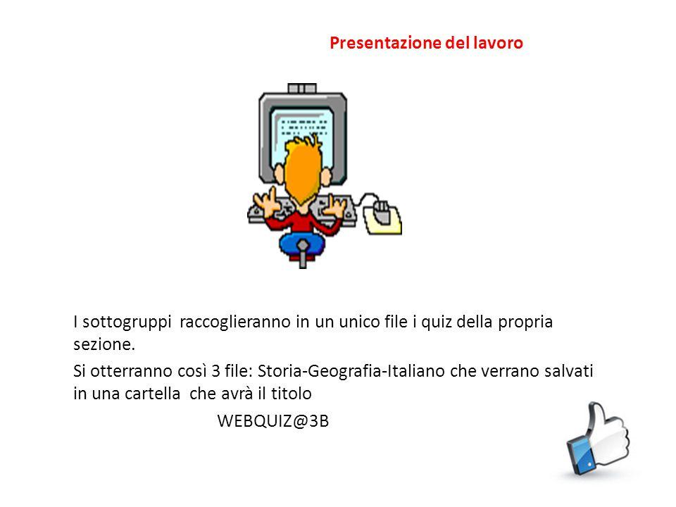 Il gruppo n°3 curerà la sezione ITALIANO e si dividerà in 2 sottogruppi: ITALIANO e GRAMMATICA Il primo sottogruppo curerà domande relative alla letteratura italiana Il secondo sottogruppo stilerà domande sulla grammatica italiana