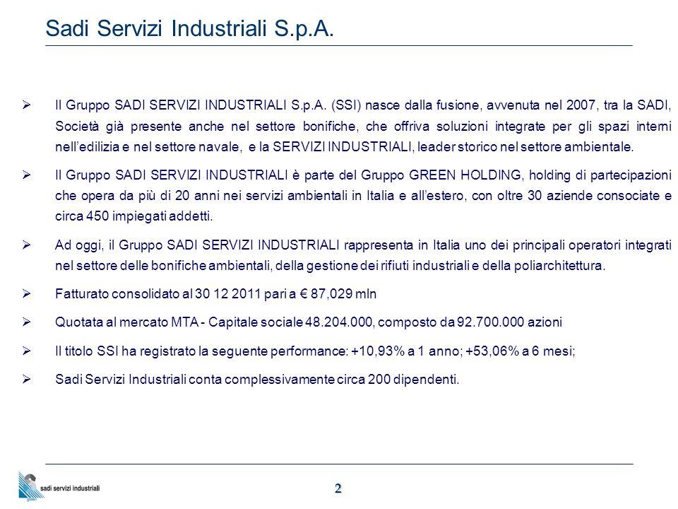 2 Sadi Servizi Industriali S.p.A.  Il Gruppo SADI SERVIZI INDUSTRIALI S.p.A.