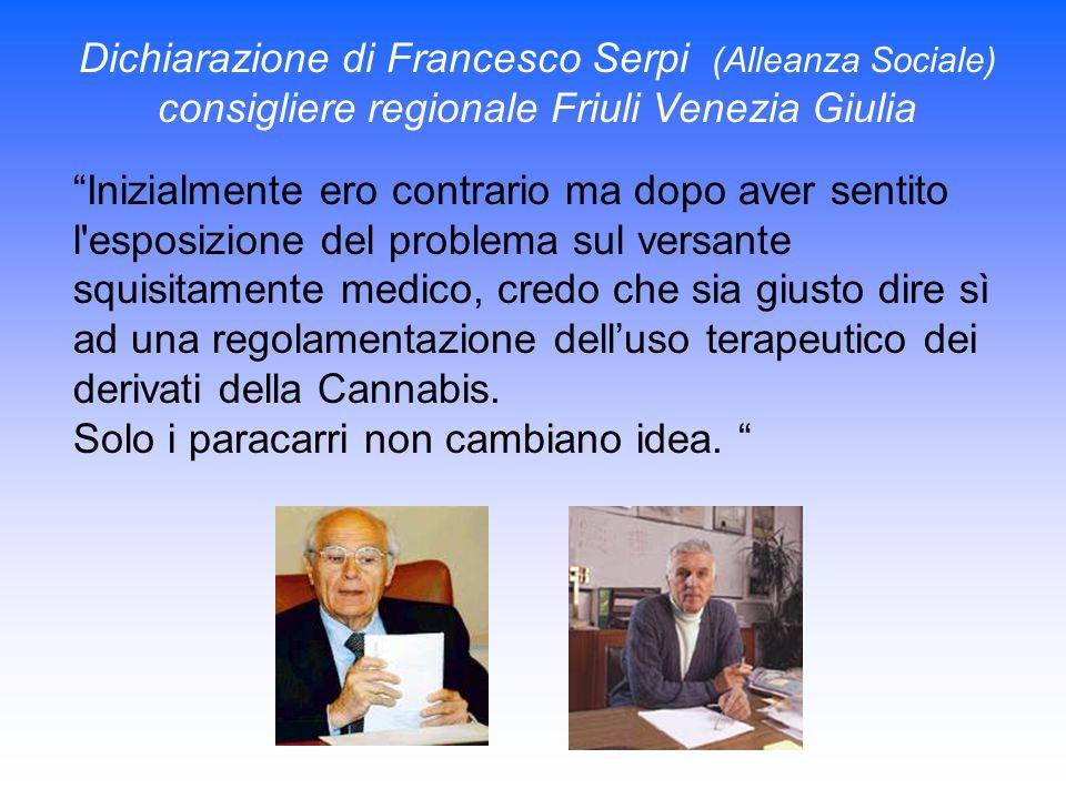 """Dichiarazione di Francesco Serpi (Alleanza Sociale) consigliere regionale Friuli Venezia Giulia """"Inizialmente ero contrario ma dopo aver sentito l'esp"""