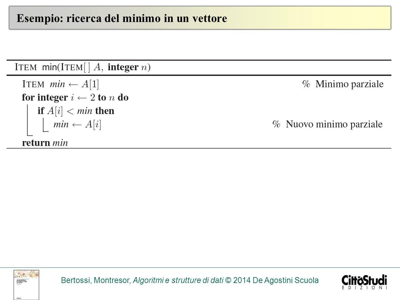 Bertossi, Montresor, Algoritmi e strutture di dati © 2014 De Agostini Scuola