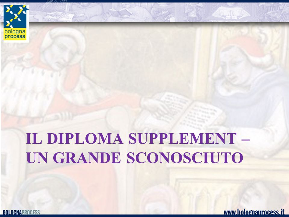 IL DIPLOMA SUPPLEMENT – UN GRANDE SCONOSCIUTO