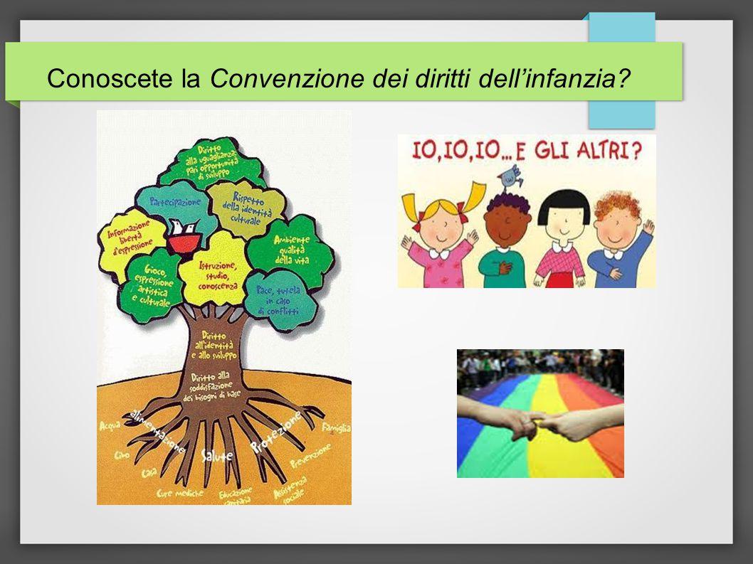 Conoscete la Convenzione dei diritti dell'infanzia?
