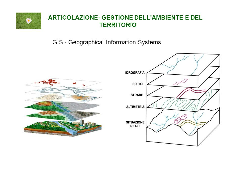 GIS - Geographical Information Systems ARTICOLAZIONE- GESTIONE DELL AMBIENTE E DEL TERRITORIO