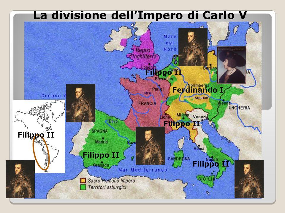 La divisione dell'Impero di Carlo V Filippo II Ferdinando I Filippo II
