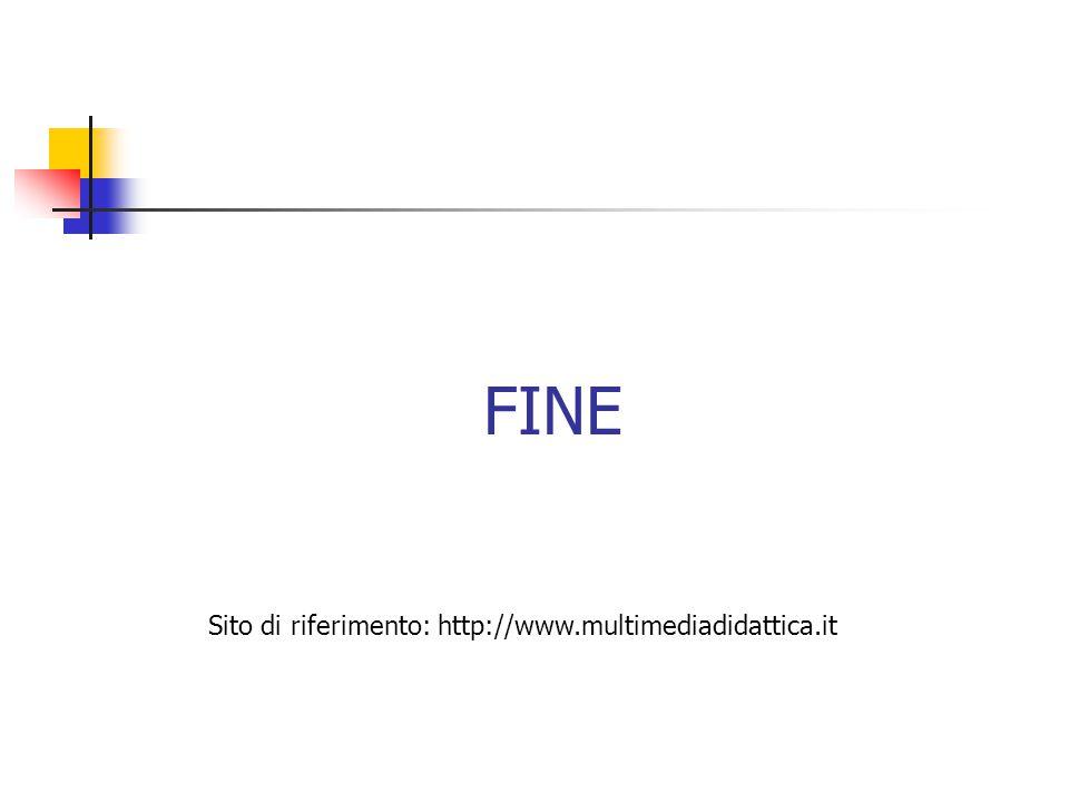 FINE Sito di riferimento: http://www.multimediadidattica.it