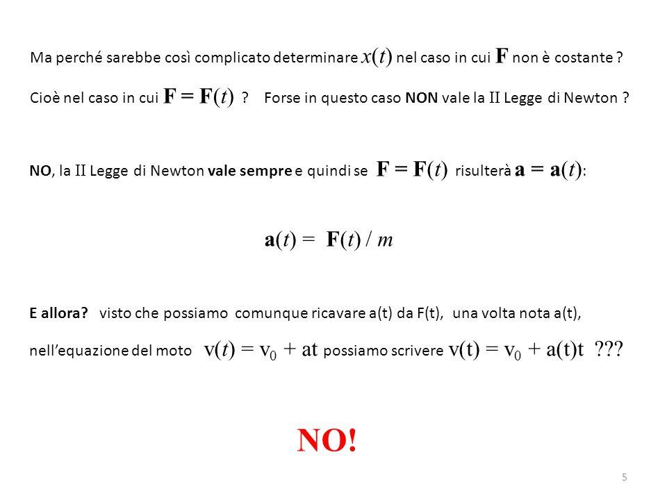 Ma perché sarebbe così complicato determinare x(t) nel caso in cui F non è costante .