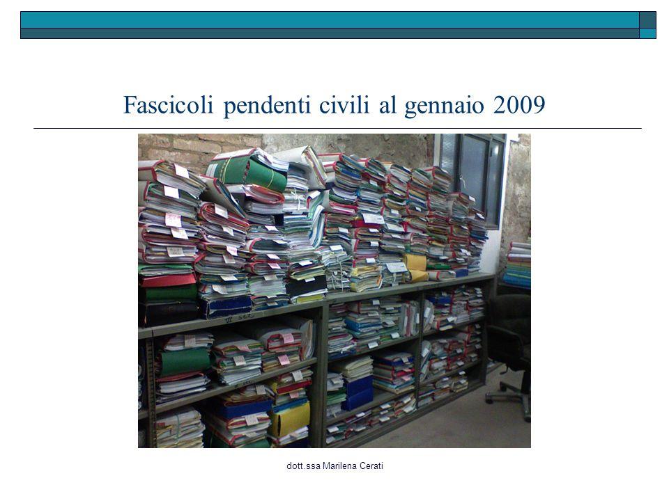 dott.ssa Marilena Cerati Fascicoli pendenti civili al gennaio 2009