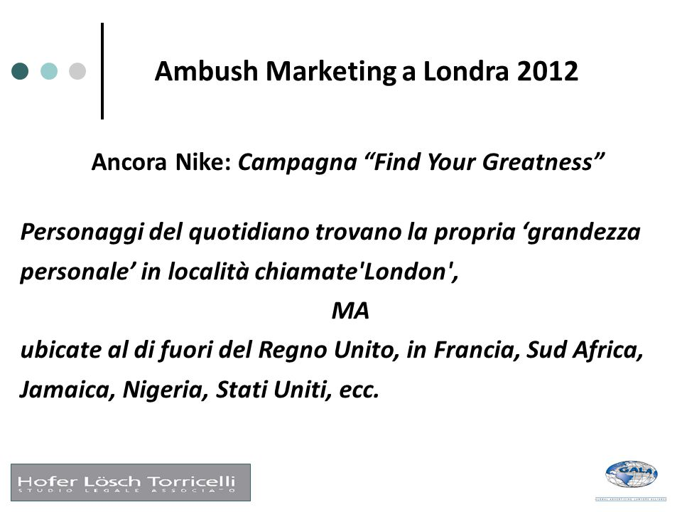 "Ambush Marketing a Londra 2012 Ancora Nike: Campagna ""Find Your Greatness"" Personaggi del quotidiano trovano la propria 'grandezza personale' in local"