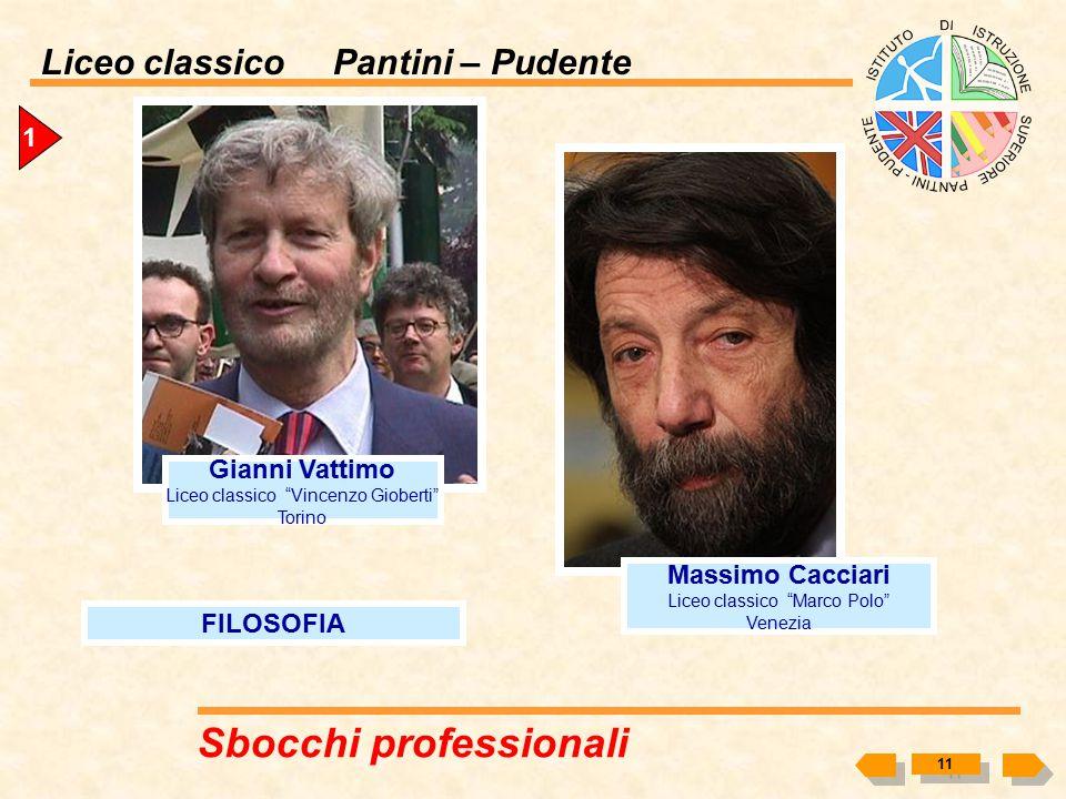 Liceo classico Pantini – Pudente 1 MEDICINA Umberto Veronesi (Milano, 28 novembre 1925) Medico Oncologo Politico Ricopre il ruolo di Direttore scienti