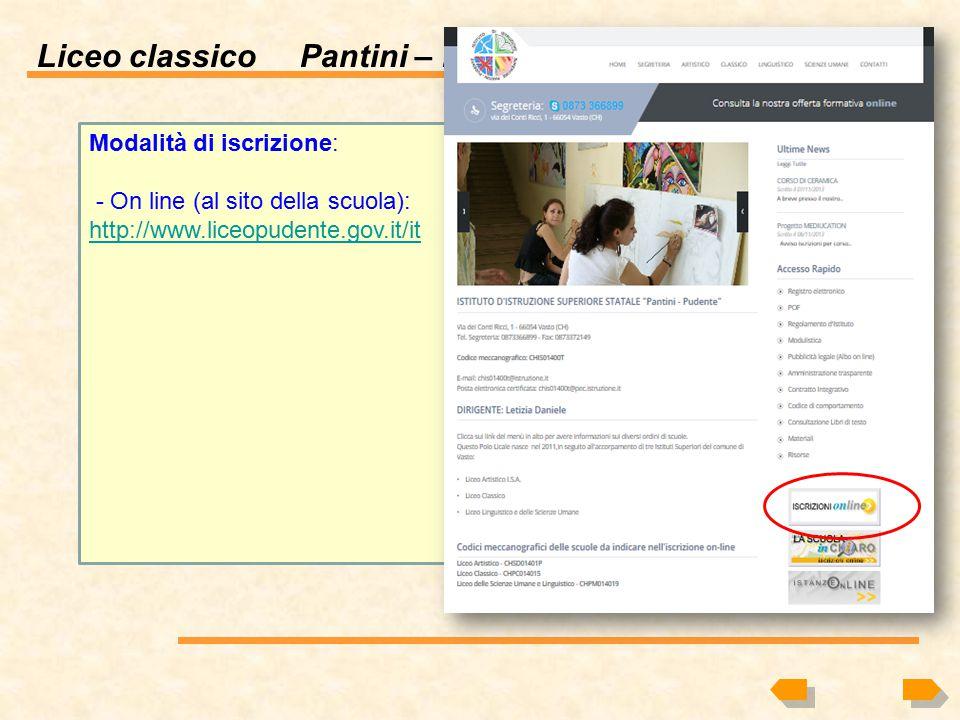 Liceo classico Pantini – Pudente Cosa si studia al liceo classico? Perché scegliere il liceo classico? Quali sono gli sbocchi professionali? Sito Web