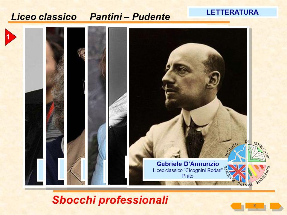 """Liceo classico Pantini – Pudente 7 1 Piero Angela Liceo classico """"Vittorio Alfieri"""" Torino Giovanni Floris Liceo classico """"Tasso"""" Roma GIORNALISMO Sbo"""