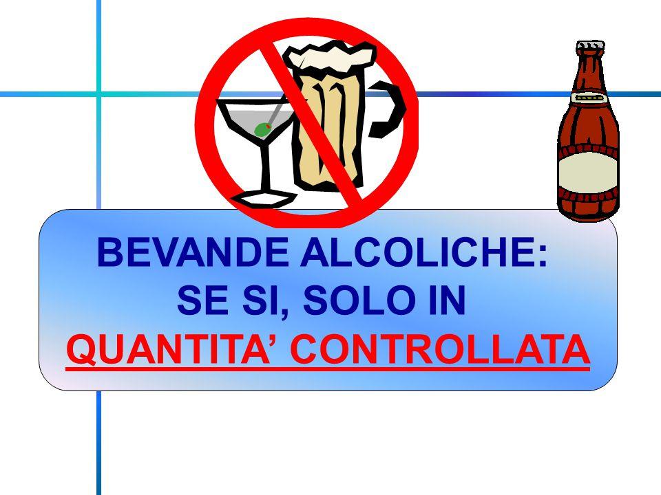 BEVANDE ALCOLICHE: SE SI, SOLO IN QUANTITA' CONTROLLATA