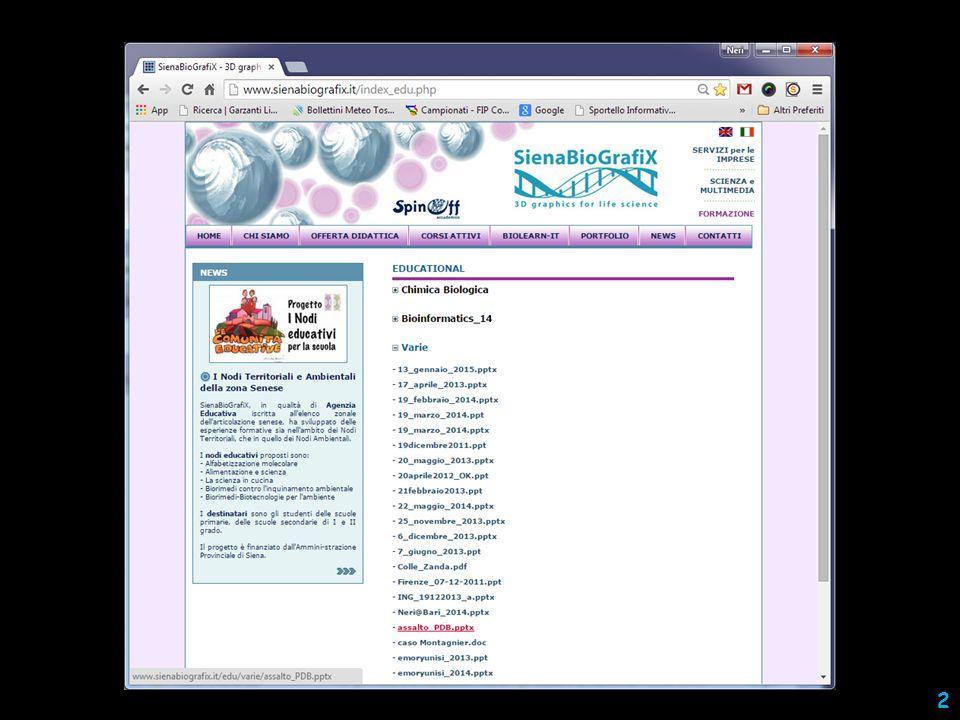 programmi per recuperare le informazioni molecolari 13