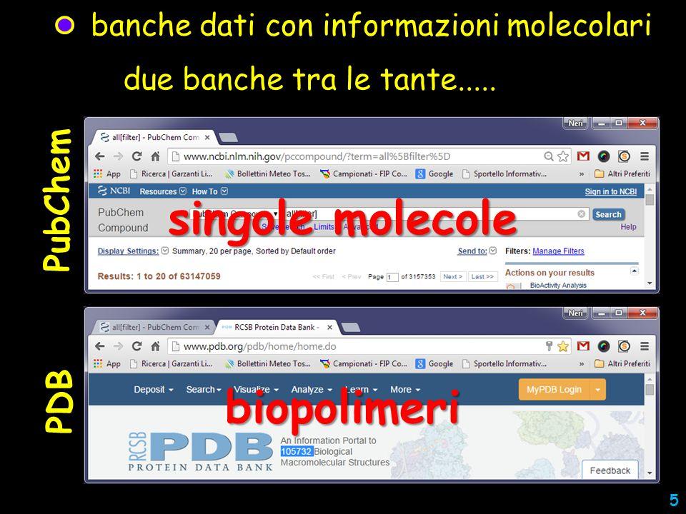 banche dati con informazioni molecolari programmi per recuperare le informazioni molecolari due banche tra le tante.....
