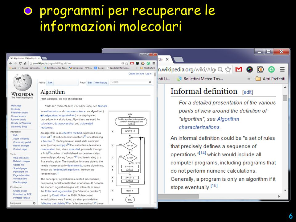 programmi per recuperare le informazioni molecolari 6