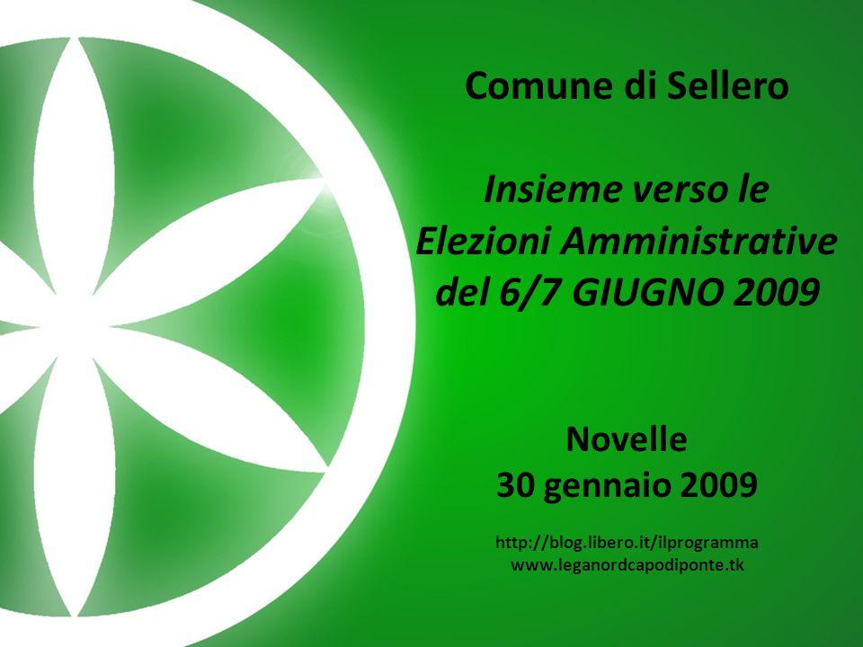 Comune di Sellero – Insieme verso le Elezioni amministrative del 6/7 giugno 2009 Novelle – 30 gennaio 2009 Il caso TSN
