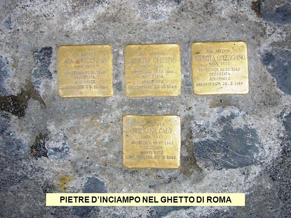 PIETRE D'INCIAMPO NEL GHETTO DI ROMA