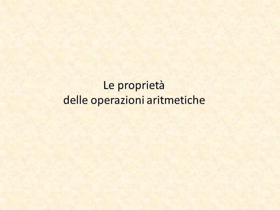Le proprietà delle operazioni aritmetiche