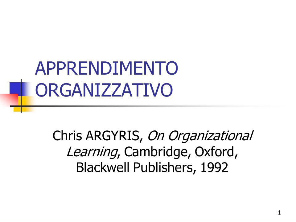 2 APPRENDIMENTO ORGANIZZATIVO E COMPETENZA L'apprendimento organizzativo è una competenza Conoscere ed organizzare divengono sinonimi