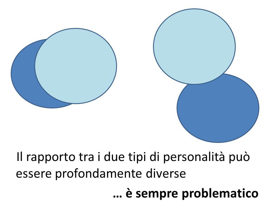 Il rapporto tra i due tipi di personalità può essere profondamente diverse … è sempre problematico