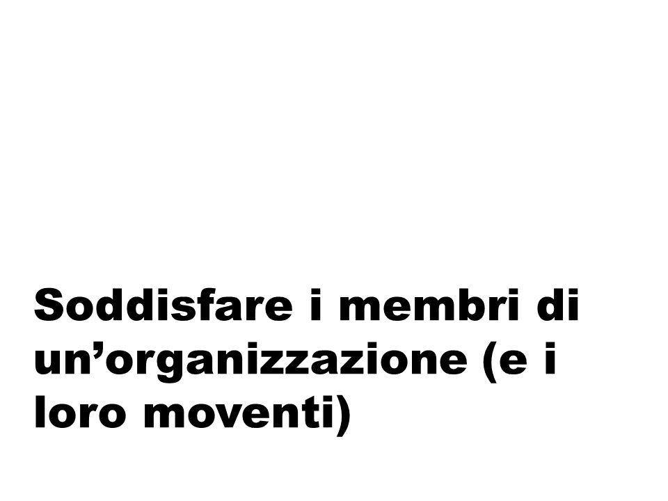 Soddisfare i membri di un'organizzazione (e i loro moventi)