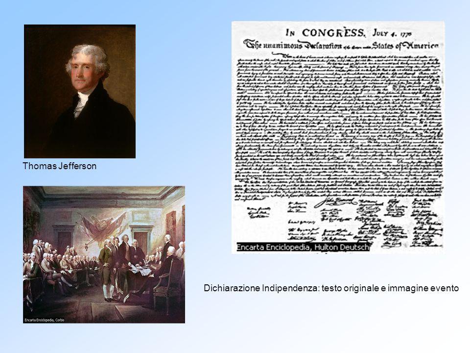 Thomas Jefferson Dichiarazione Indipendenza: testo originale e immagine evento