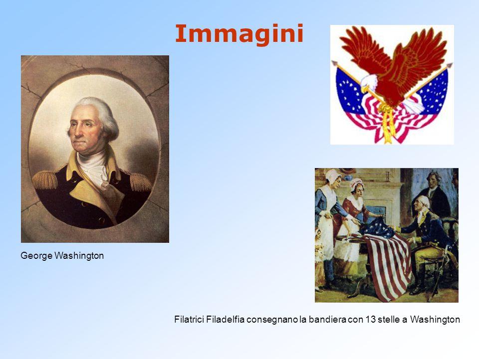 Immagini George Washington Filatrici Filadelfia consegnano la bandiera con 13 stelle a Washington