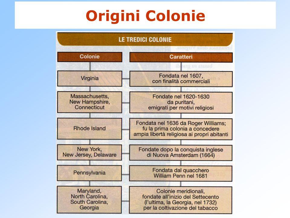 Origini Colonie