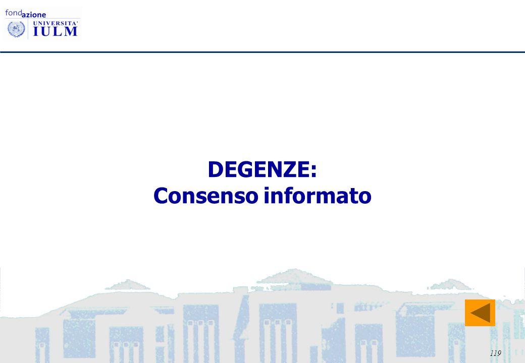 119 DEGENZE: Consenso informato