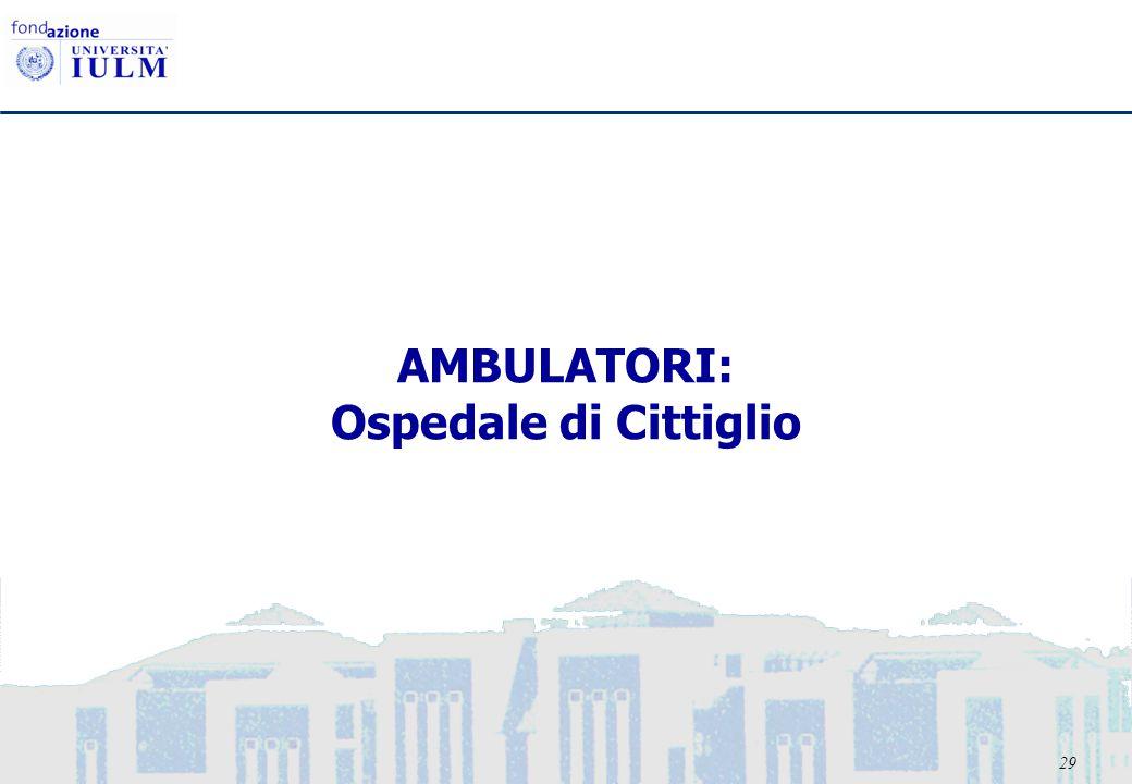 29 AMBULATORI: Ospedale di Cittiglio