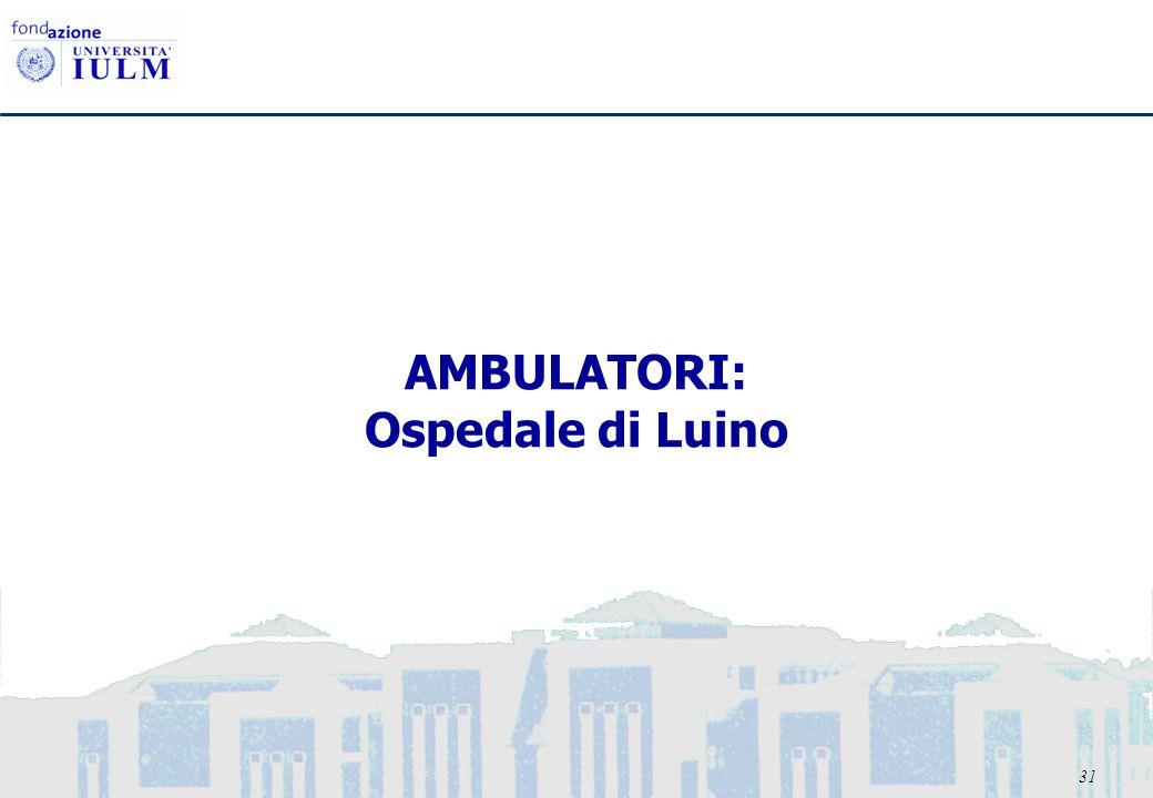 31 AMBULATORI: Ospedale di Luino