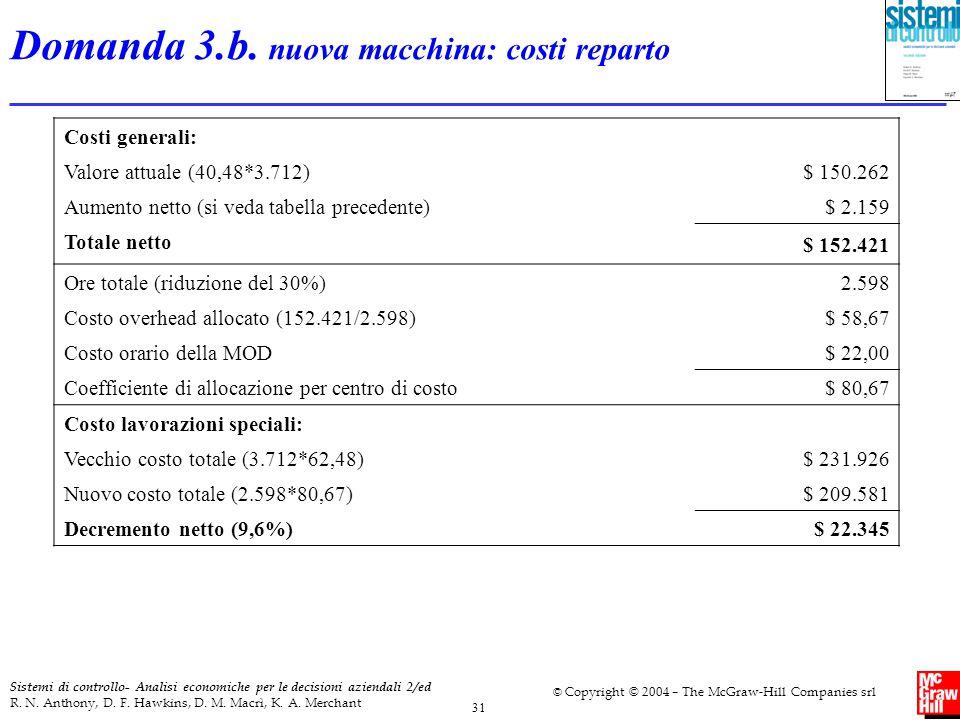 31 Sistemi di controllo- Analisi economiche per le decisioni aziendali 2/ed R. N. Anthony, D. F. Hawkins, D. M. Macrì, K. A. Merchant © Copyright © 20