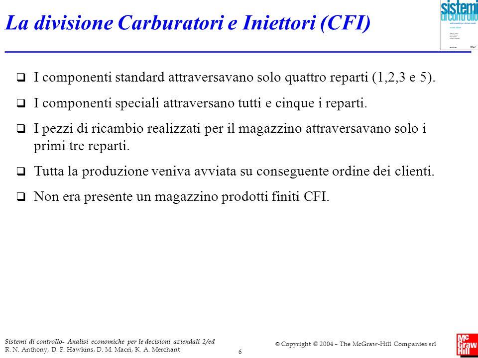 6 Sistemi di controllo- Analisi economiche per le decisioni aziendali 2/ed R. N. Anthony, D. F. Hawkins, D. M. Macrì, K. A. Merchant © Copyright © 200