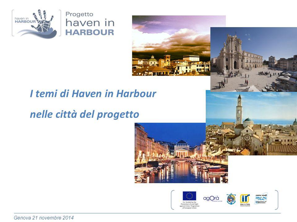 Genova 21 novembre 2014 I temi di Haven in Harbour nelle città del progetto