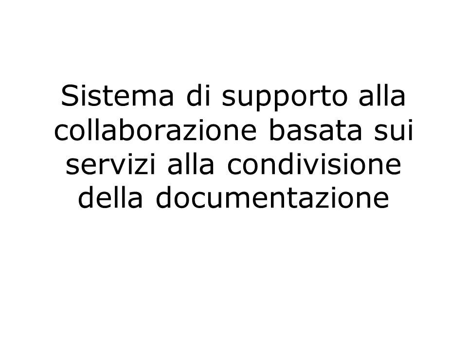 Collaborazione Basata sui Servizi & Condivisione di Documentazione 1.