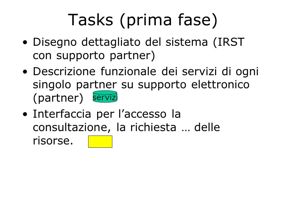 Seconda Fase servizi Doc.. servizi Doc. servizi Doc. servizi Doc. Intranet Alto Adige Trentino Tirolo Friuli Venezia Giulia