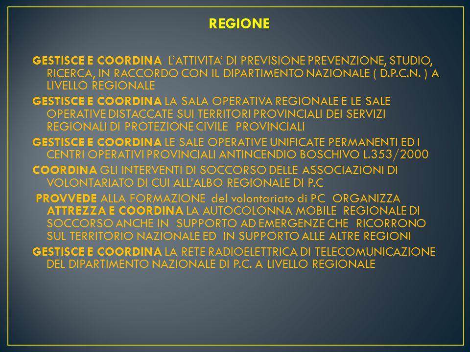 DPCN SALA ITALIA CESI SOR CZ COM SOP CS PREFETTURE CCS COC FLUSSI NOTIZIE SALE OPERATIVE DI PROTEZIONE CIVILE REGIONE CALABRIA SOP SOUP COP COAU