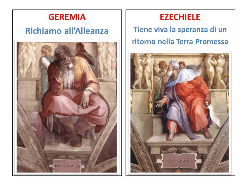 GEREMIA Richiamo all'Alleanza EZECHIELE Tiene viva la speranza di un ritorno nella Terra Promessa