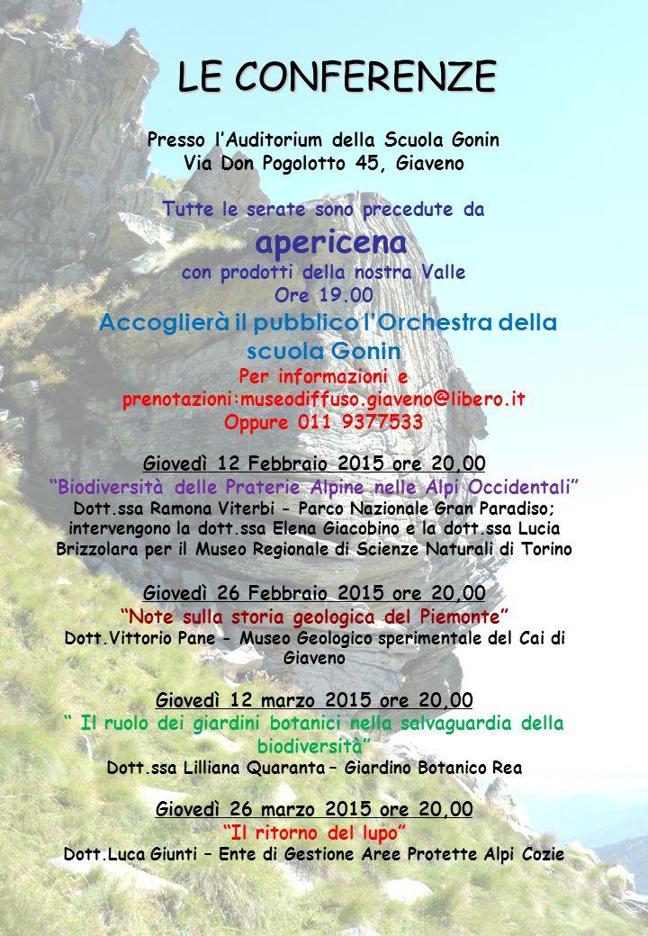 """Giovedì 12 Febbraio 2015 ore 20,00 """"Biodiversità delle Praterie Alpine nelle Alpi Occidentali"""" Dott.ssa Ramona Viterbi - Parco Nazionale Gran Paradiso"""