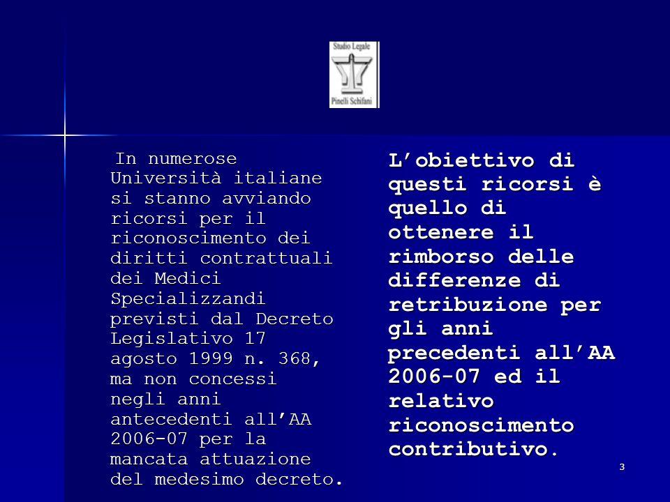 4 Il SEGRETARIATO ITALIANO MEDICI SPECIALIZZANDI, Il SEGRETARIATO ITALIANO MEDICI SPECIALIZZANDI, dal dicembre 2007, dal dicembre 2007, ha promosso in merito ha promosso in merito numerose assemblee in vari Atenei italiani, cui partecipa cui partecipa lo STUDIO LEGALE PINELLI SCHIFANI nelle persone degli AVVOCATI GIUSEPPE PINELLI GIUSEPPE PINELLIE FRANCESCO CARONIA, e gli Studi ad esso consociati nelle rispettive città.
