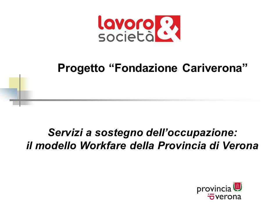 """Progetto """"Fondazione Cariverona"""" Servizi a sostegno dell'occupazione: il modello Workfare della Provincia di Verona"""