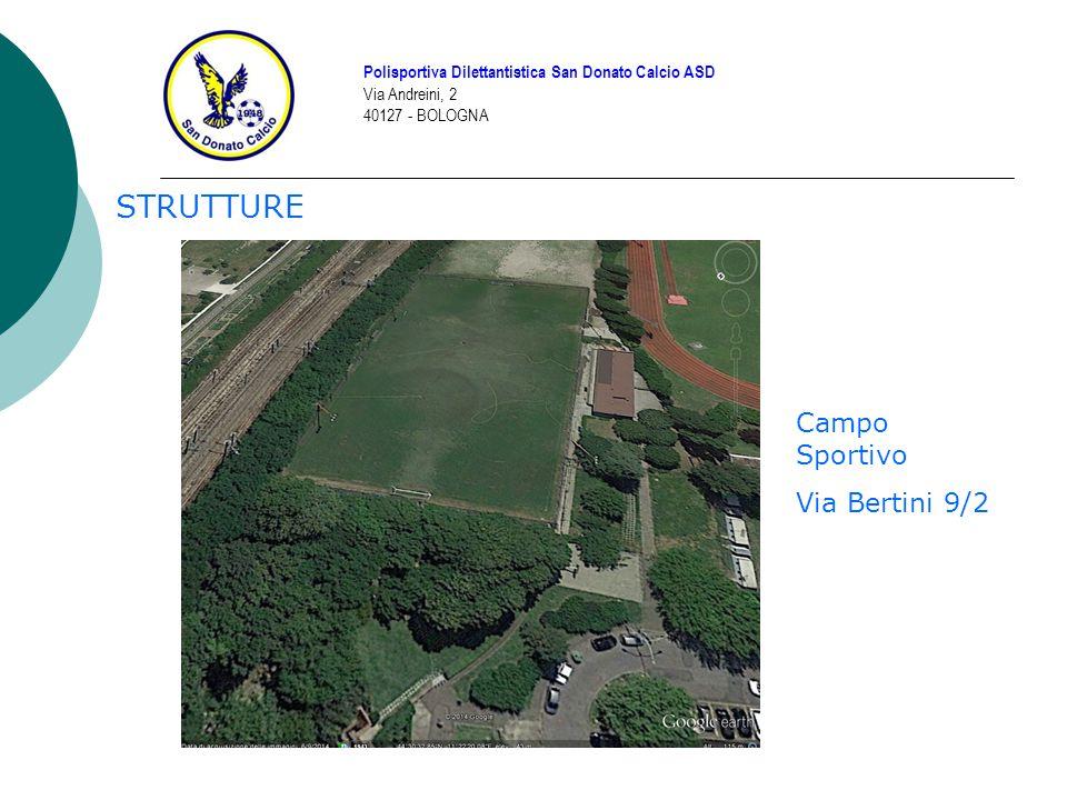 STRUTTURE Polisportiva Dilettantistica San Donato Calcio ASD Via Andreini, 2 40127 - BOLOGNA Campo Sportivo Via Bertini 9/2