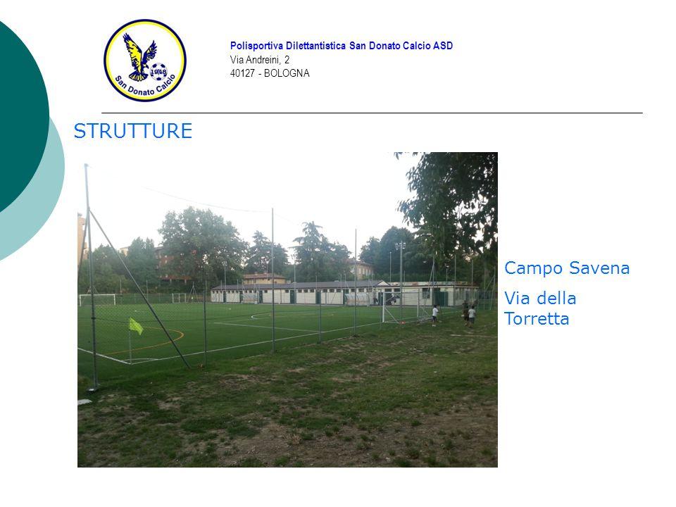 STRUTTURE Polisportiva Dilettantistica San Donato Calcio ASD Via Andreini, 2 40127 - BOLOGNA Campo Savena Via della Torretta