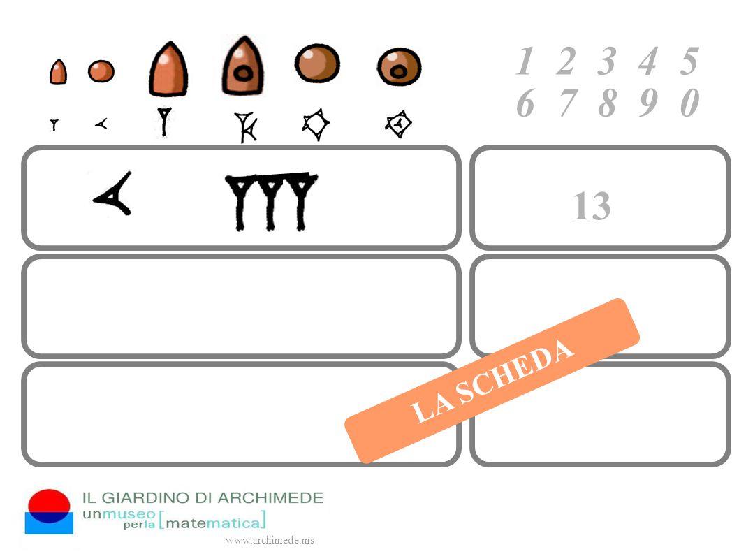 1 2 3 4 5 6 7 8 9 0 www.archimede.ms LA SCHEDA 13